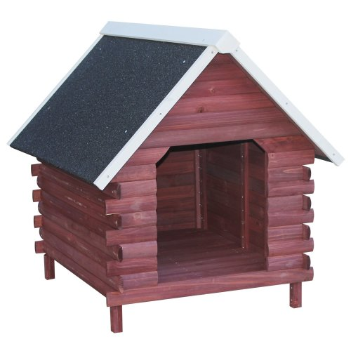 PawHut Wooden Dog Kennel | Waterproof Outdoor Pet House