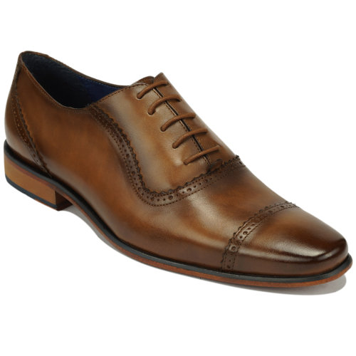 Scott Williams Men's Quincy Tan Leather Shoes