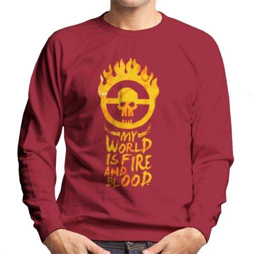 My World Is Fire Mad Max Fury Road Men's Sweatshirt