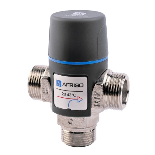"Afriso Quality Adjustable Water Thermostatic Mixing Valve Mixer 3/4 1"" Dn15 Dn20"