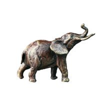 Bronze Elephant Trunk Up Figure - Butler & Peach - 2037.