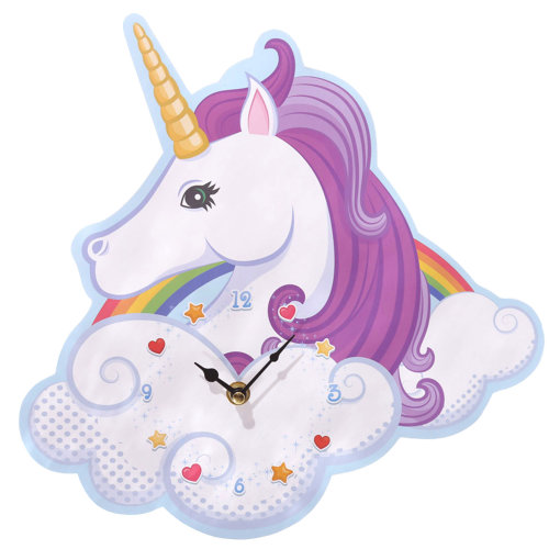 Unicorn Shaped Picture Wall Clock