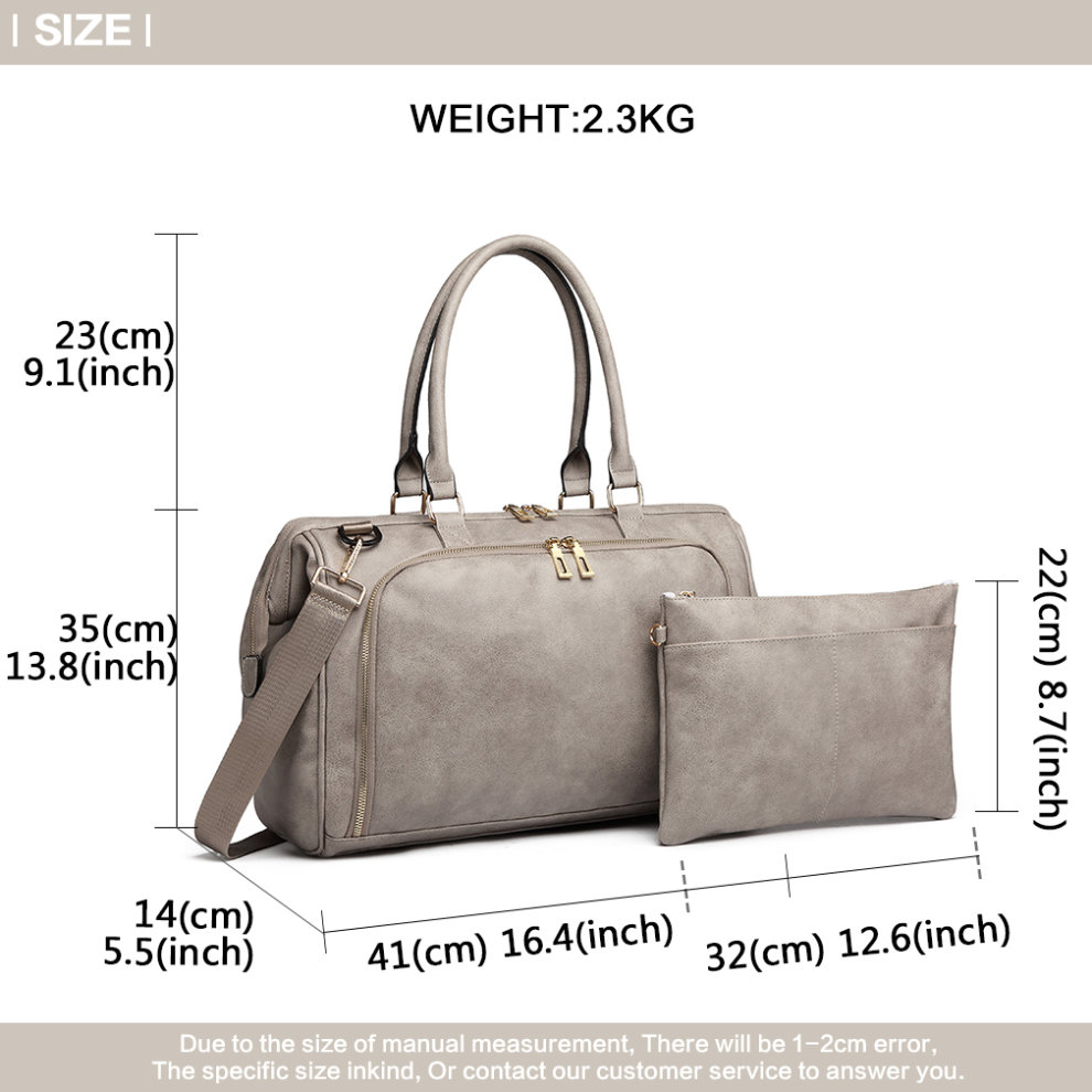 1829371dbeff5 ... Miss Lulu 3 Pieces Baby Nappy Diaper Changing Bag PU Leather Grey - 8  ...
