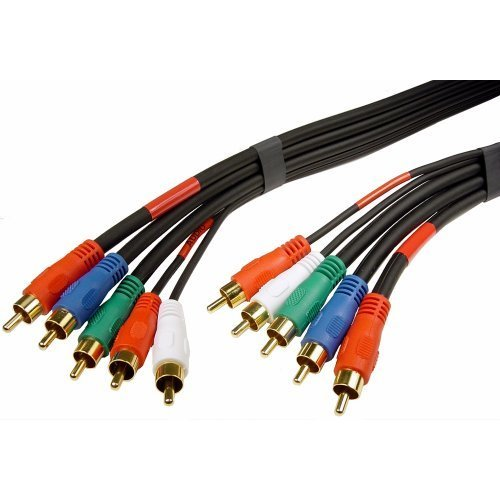 Cables Unlimited AUD 1380 25 25 Feet RCA Component VideoAudio Cable