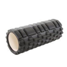 Yoga Foam Roller Wheel Yoga Massage Stick Muscle Relaxation Fitness Exercise 33 CM * 14 CM-Black