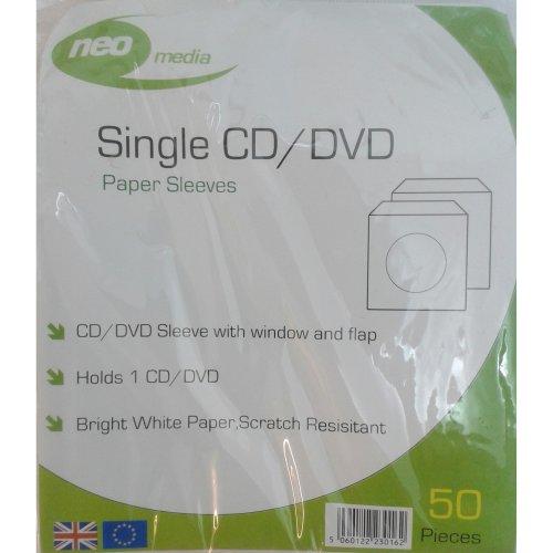 Disc Sleeves Paper Pack of 50
