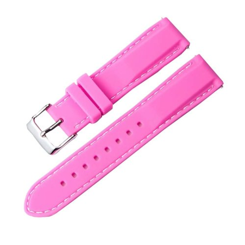 Silicone Watch Wrist Replacement 22MM Comfortable Watch Strap Watch Band Rose Red