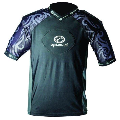 Optimum Razor Adult Rugby Body Protection Shoulder Pads Black/Silver