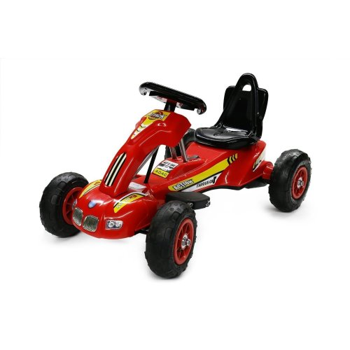 RideonToys4u 6V Electric Attack Ride On Go Kart With Air Rubber Wheels 3KM/H 45 Minutes Driving Time 2 Speed Options Colour Red Ages 3-8 Years