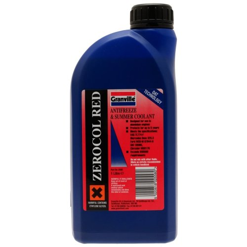 Zerocol Antifreeze & Summer Coolant - Concentrated - 1 Litre