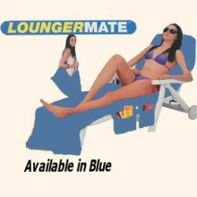 BEACH TOWEL BUDDY BAG SUN LOUNGER HOLIDAY GARDEN LOUNGE [Blue]
