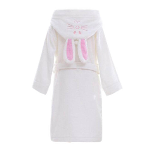 476eb6fd14 Children Cotton Bathrobe Soft Swim Bath Gown Robes Pajamas with Hat-A07 on  OnBuy