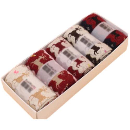 5 Pairs Women Soft Socks Fall Winter Warm Socks Decent Gift-A06