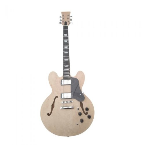 Electric Guitar DIY kit GDES235 - Mahogany Hollow body Birdseye Maple Veneer