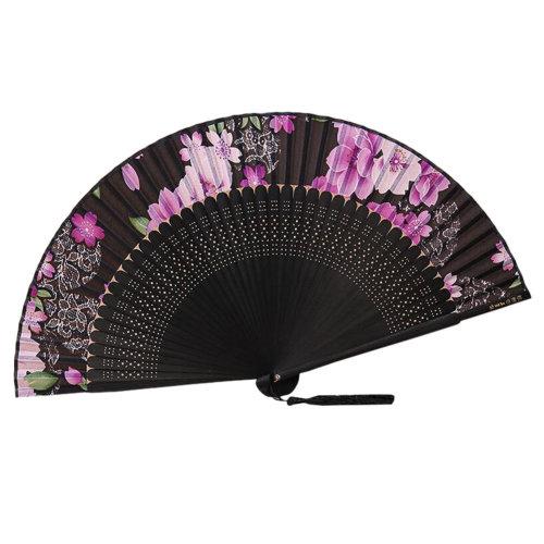 [Chinese & Japanese] Retro Silk Hand Fan Portable Folding Fan Handheld Fan NO.20