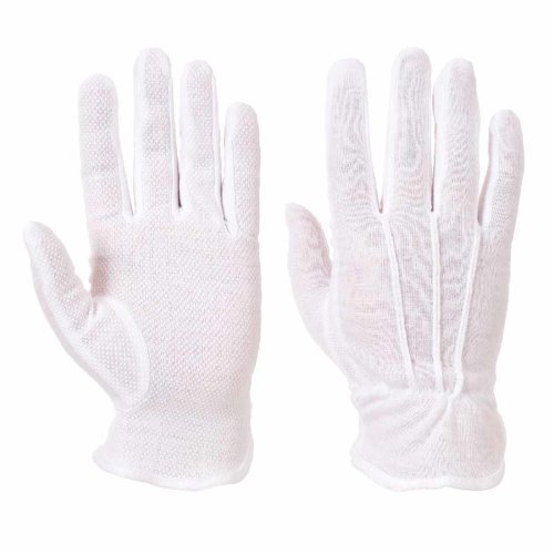 sUw - Mens All Purpose Cotton Terry Microdot Grip Gloves (1 Pair Pack)