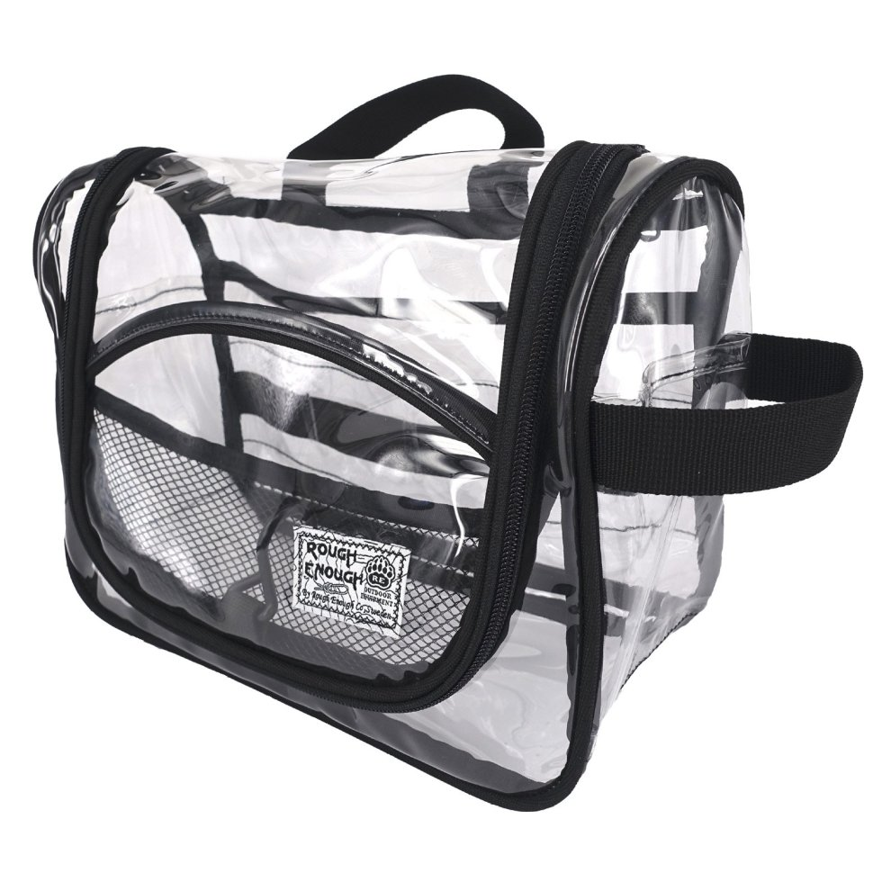 Rough Enough Transparent Vinyl Zippered Luggage Toiletry