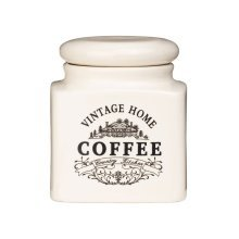 Vintage Home Coffee Jar - Cream