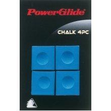 Blue 4 Piece Powerglide Snooker Chalk Set - Pool Accessories Cue x -  powerglide chalk snooker pool accessories cue blue x 4