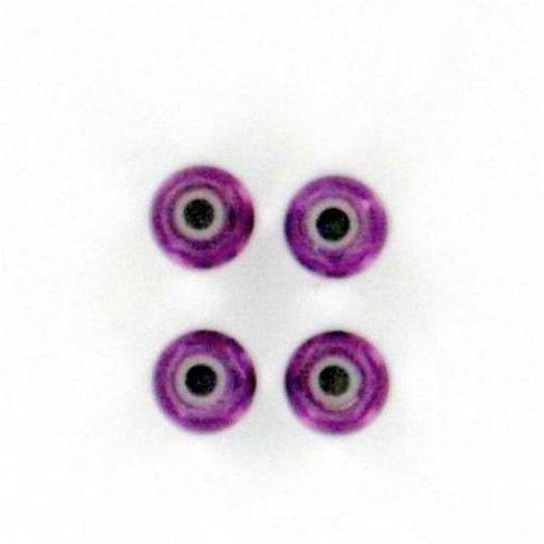 Purple Aluminum Nylon Locknut M4 Qty 4