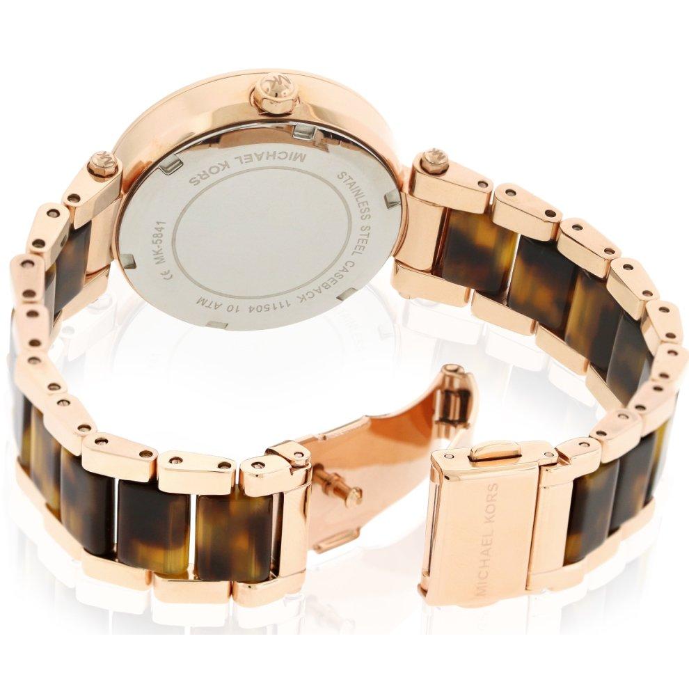 30f10be9f129 ... Michael Kors Mini Parker Tortoise Acetate and Rose Gold-Tone Ladies  Watch MK5841 - 1 ...