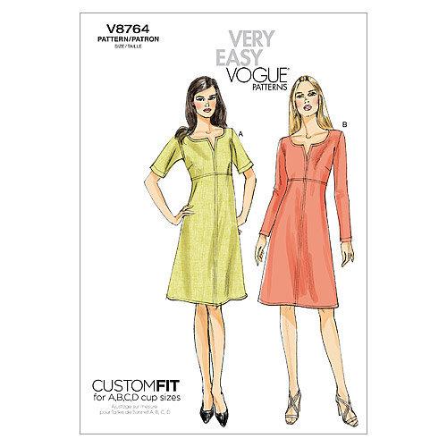 Misses' Dress-F5 (16-18-20-22-24) -*SEWING PATTERN*