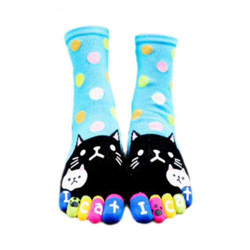 Tube Toe Socks Cotton Soft House Socks Cartoon Cute Socks-A01