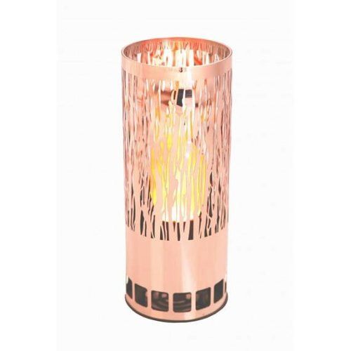 Silk Flame Effect Lamp - Round VINE BRAZIER in Copper