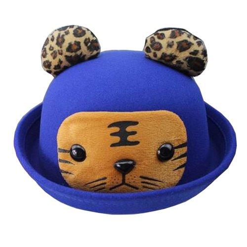 [Tiger] Fashion Baby Woolen Hat Children Bucket Hat Bowler Hat