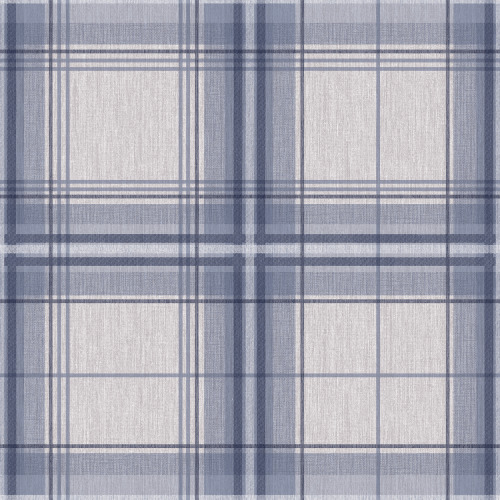 Arthouse Woven Check Tartan Effect Textured Faux Fabric Wallpaper 942302