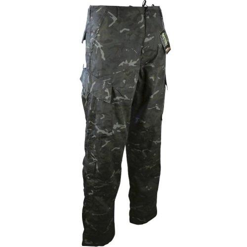"Kombat Assault Trousers ACU Style BTP Black 34-36"" Medium"