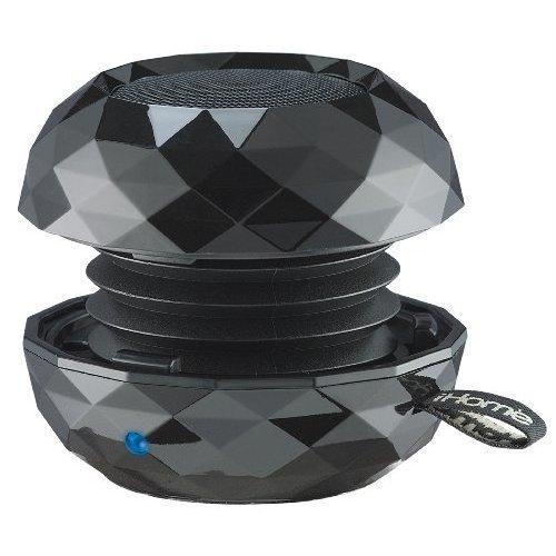 iHome IBT65B Bluetooth Rechargeable Mini Speaker System in Metallic Finish Black