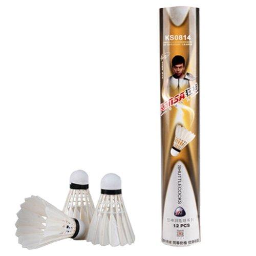 12PCS Durable Duck Feather Badminton Shuttlecocks Badminton Equipment