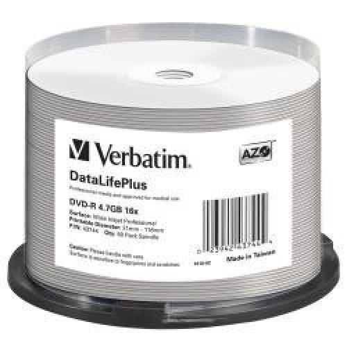 Verbatim DVD-R 16x DataLifePlus - blank DVDs (DVD-R, Thermal White, sp