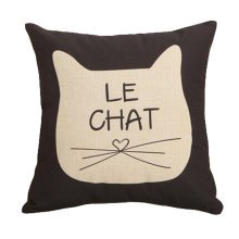 Decor Cotton Linen Decorative Throw Pillow Case Cushion Cover,Cat Beard