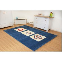 Kids Childrens Rug Play Mat in Nautical design 100 x 150cm