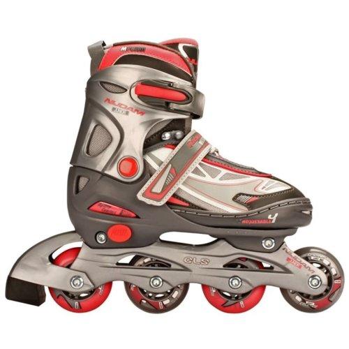 Nijdam Junior Inline Skates 38-41 Anthracite/Silver/Fuchsia 52SR