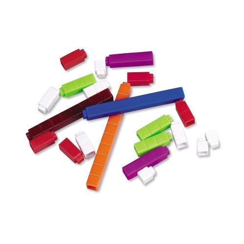 Learning Resources Interlocking Plastic Cuisenaire Rods Introductory Set (Set of 74)