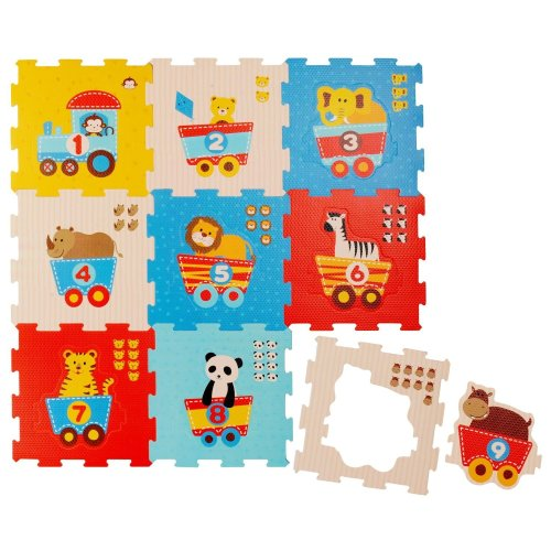 Bieco 19003763Animals and Numbers Puzzle Mat Set