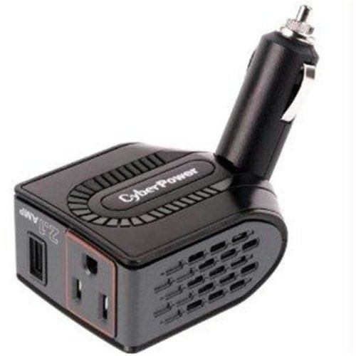 CYBER POWER CPS150BURC1 PWR POWER INVERTER 150W -15-15R MOBILE AUTO PLUG 2.1A USB CHARGER MASTER CARTON QTY 10