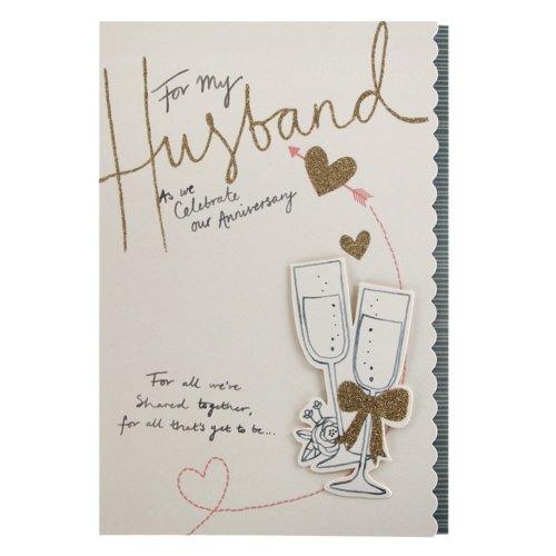 Hallmark Anniversary Card For Husband 'All We've Shared' - Medium