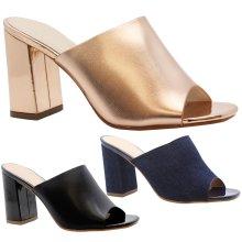 Women Block Heels Open Toe Strappy Party Sandals