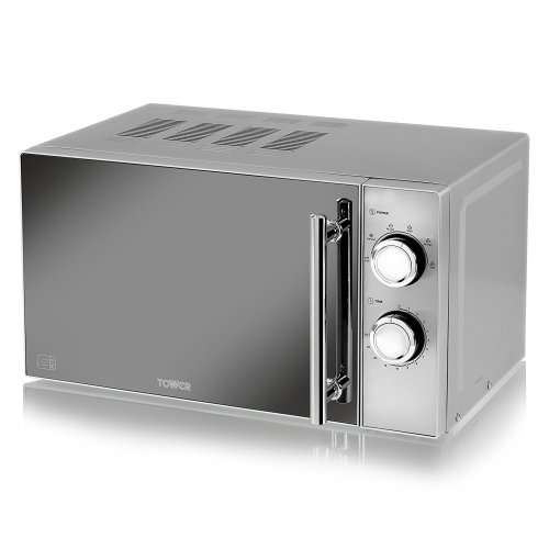 Tower T24015S Silver Manual Solo Microwave 800w, 20 Litre