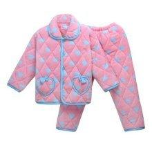 Children Pajamas Warm Thick Cotton Winter Suit Modern Set Sleepwear/Nightwear Clothes for Home, D12