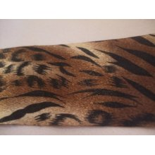 "1 Metre of May Arts Satin Animal Print Ribbon - Jaguar - 1.5"" (38mm)"