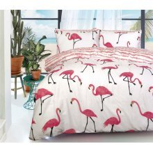 Flamingo Wildlife Printed Duvet Cover Fine Bedding Set All sizes