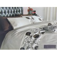 Heaven/Burgeon cream brown embroidered duvet cover