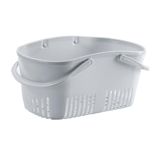 Bath Storage Basket Plastic Storage Basket with Handles #3