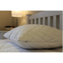 Quilted Polycotton Zipped Pillow Protectors - 1 Pair