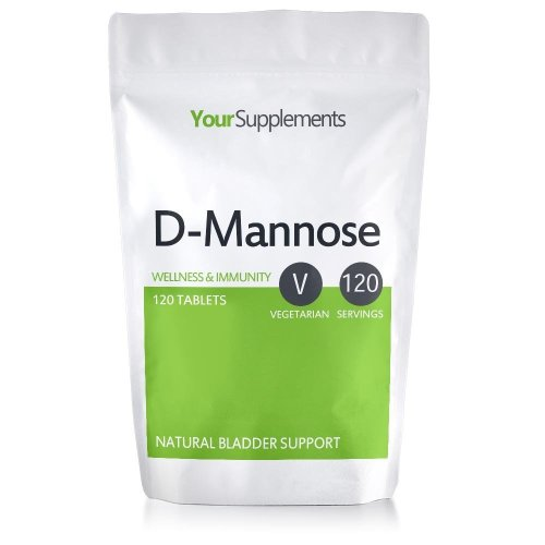 D-Mannose Tablets | 1000mg X 120 | Double Strength | A Natural & Safe Way To Clear Cystitis and UTIs